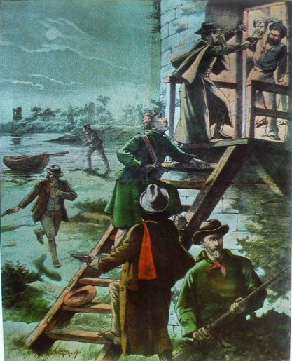 The Mills painting depicting the attack